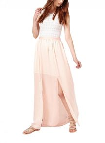 Miss Selfridge Nude Maxi Skirt