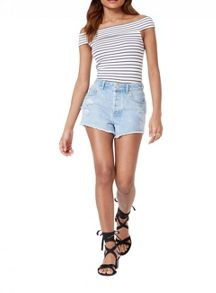 Miss Selfridge Petites Stripe Bardot Body