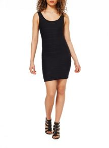 Miss Selfridge Black Bandage Bodycon Dress