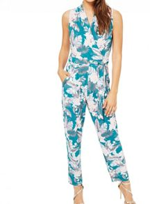 Miss Selfridge Palm Print Jumpsuit