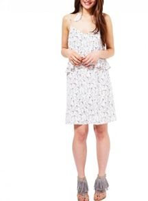 Miss Selfridge Double Layer Sprig Print Dress