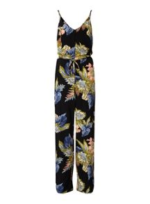 Miss Selfridge Palm Print Piping Jumpsuit