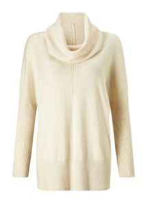 Miss Selfridge Oatmeal Cowl Neck Jumper