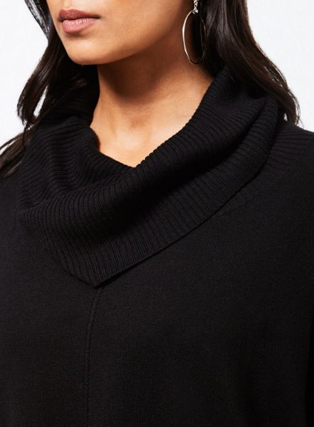 Miss Selfridge Black Cowl Neck Jumper