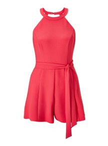Miss Selfridge Petites Coral 90`S Playsuit