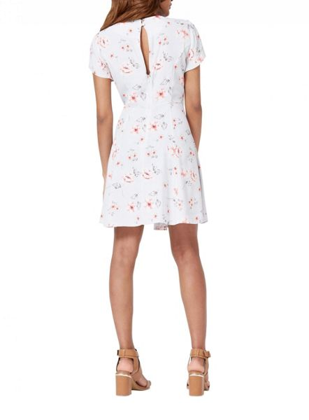 Miss Selfridge Petites Grey Floral Tea Dress