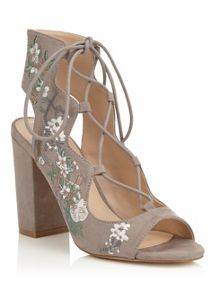 Miss Selfridge Chiara Embroidered Sandal