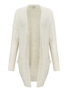 Miss Selfridge Cream Slouchy Knitted Cardigan