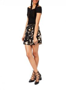 Miss Selfridge Black Cross Front Bardot