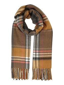 Camel Pink Check Scarf