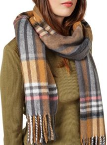 Miss Selfridge Camel Pink Check Scarf
