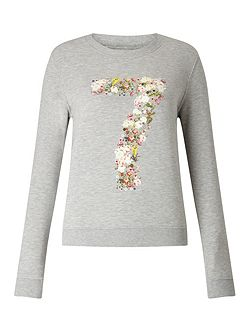 Floral Number Sweat