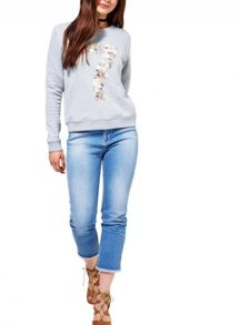 Miss Selfridge Floral Number Sweat