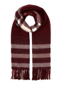 Miss Selfridge Burgundy Check Scarf