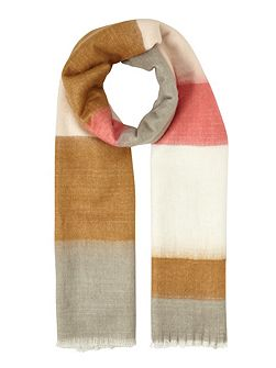 Pink Large Check Scarf