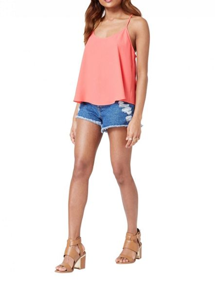 Miss Selfridge Petites Wrap Back Cami Top