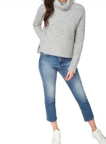Miss Selfridge Petite Grey Cowl Neck Jumper