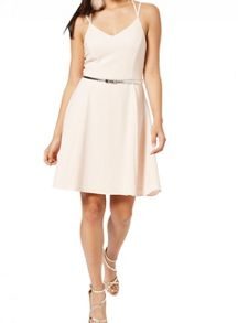 Miss Selfridge Nude Strappy Belted Skater