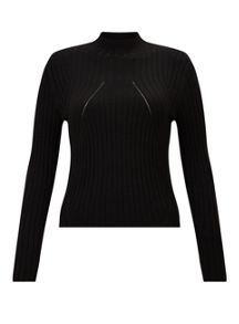 Miss Selfridge Petite Funnel Neck Jumper