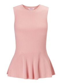 Miss Selfridge Petites Sleeveless Peplum Top