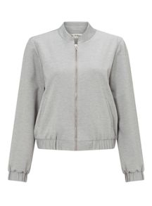 Miss Selfridge Grey Ponte Bomber Jacket