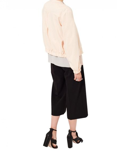 Miss Selfridge Blush Bomber Jacket