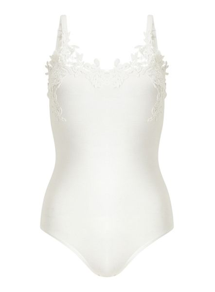 Miss Selfridge Petites Ivory Crochet Body