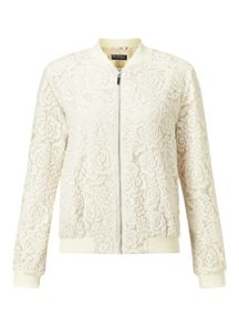 Miss Selfridge Ivory Lace Bomber
