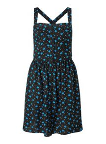 Miss Selfridge Button Printed Sundress
