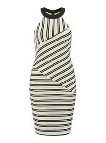 Miss Selfridge Stripe Bodycon Dress
