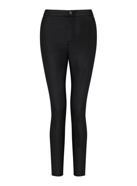 Miss Selfridge R Steffi Black Coated Jean