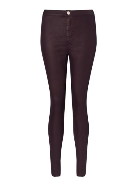Miss Selfridge Steffi Burgandy Coated Jean