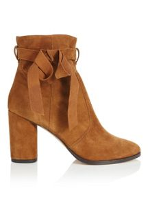 Miss Selfridge Alixe Suede Wrap Boot Tan