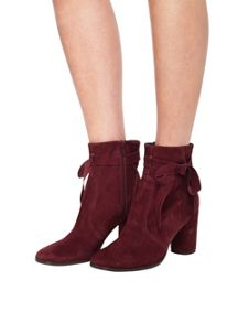 Miss Selfridge Alixe Suede Wrap Boot