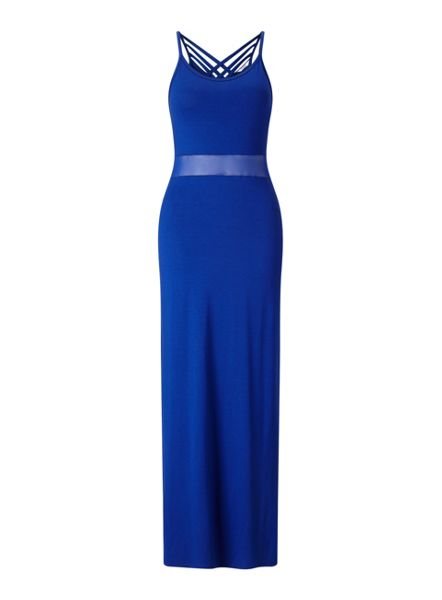 Miss Selfridge Petites Cross Back Maxi Dress