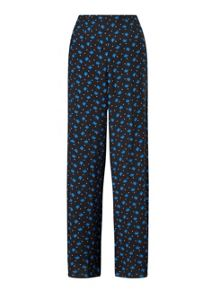 Miss Selfridge Black Geo Print Wide Leg
