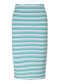 Miss Selfridge Petites Multi Stripe Midi Skirt