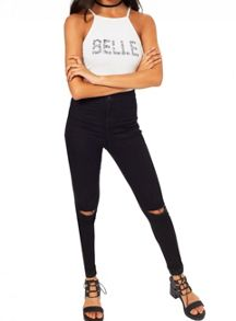 Miss Selfridge Petites Belle Slogan Bodysuit