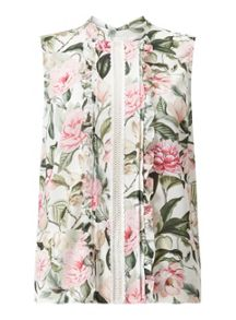 Miss Selfridge Bloom Pintuck Shell