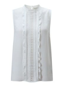 Miss Selfridge Ivory Pintuck Shell