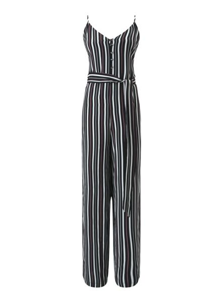 Miss Selfridge Stripe Button Front Jumpsuit