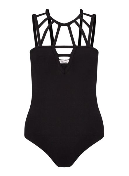 Miss Selfridge Petites Black Cage Bodysuit