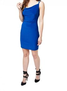Miss Selfridge Blue Strappy Slinky Dress