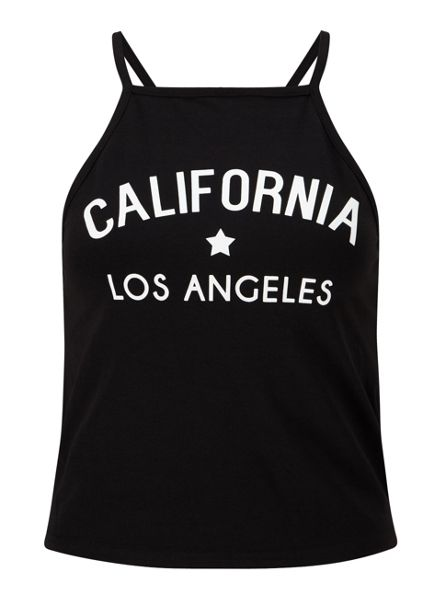 Miss Selfridge Black California 90`S Crop