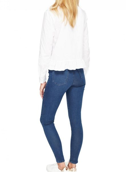 Miss Selfridge Steffi Sulphure Blue Jean