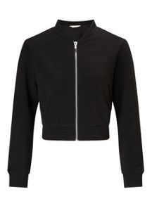 Miss Selfridge Black Shrunken Bomber
