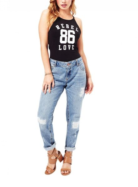 Miss Selfridge Petites Rebel Love Bodysuit