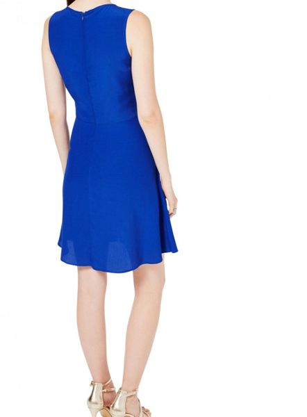 Miss Selfridge Blue Skater Dress