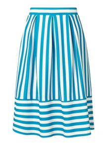 Miss Selfridge Petites Stripe Midi Skirt