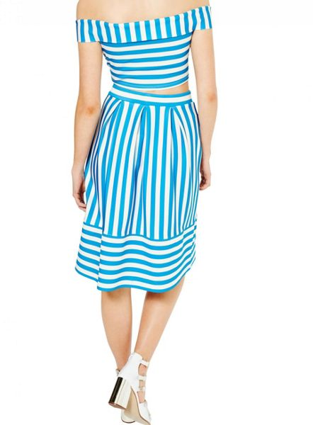 Miss Selfridge Petites Stripe Bardot Top
